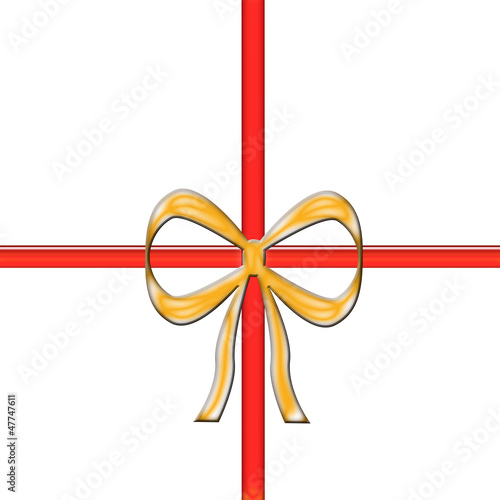 golden and red gift ribbon