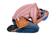 Tradesman grieving