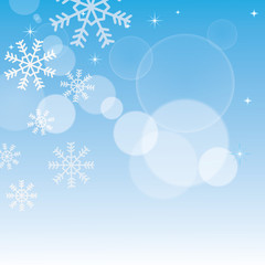 Simple winter background. Vector illustration
