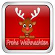 Rentier Rudolph wünscht Frohe Weihnachten Button