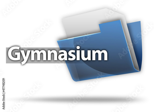 "3D-Style Mappe ""Gymnasium"""