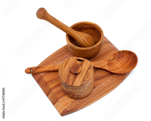 wood craft isolated on white background