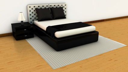 Bedroom in 3d
