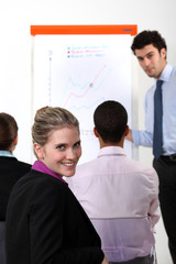 businesswoman on a professional training