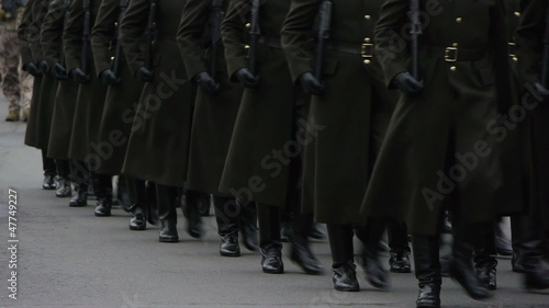 HD - Military Parade. Soldiers