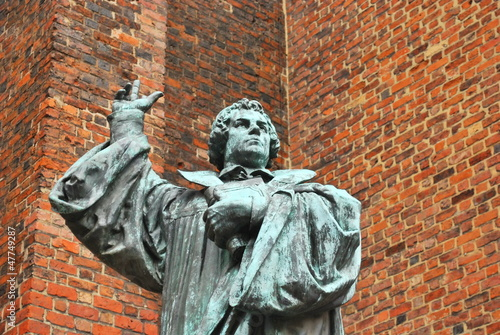 German religious figure monument to Martin Luther in Hanover