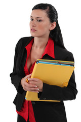 Portrait of an attractive secretary