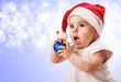 Christmas baby girl portrait