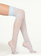 Woman's Legs in Light Blue Stockings