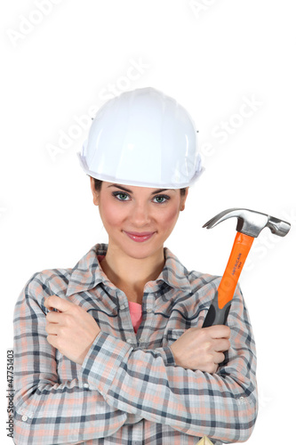 Woman with a hammer