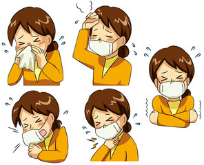 風邪の症状・若い女性