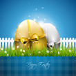 Modern blue Easter background