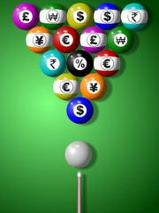 Money billiard game