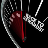 Race to Rewards Speedometer Customer Loyalty Points Program