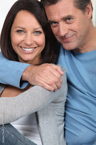 Portrait of a loving middle-aged couple