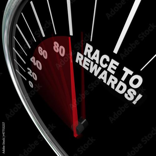 Race to Rewards Speedometer Customer Loyalty Points Program