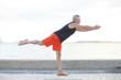 Man in a balancing pose