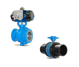 Stop valves with manual and automatic drive