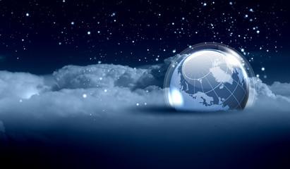 World christmas ball