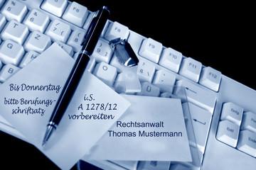 Büroanweisung in der Anwaltskanzlei