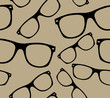 glasses Seamless pattern retro sunglasses. vector background