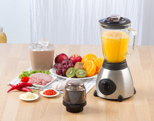blender for make fruit juice or mash meat, garlic or chili