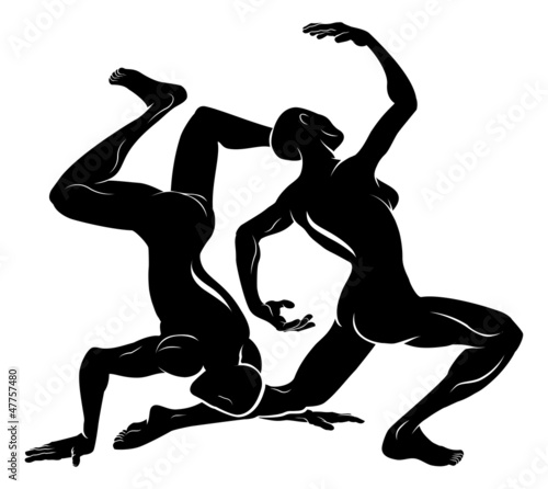 Stylised dancers illustration
