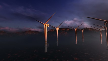 Offshore power wind turbines