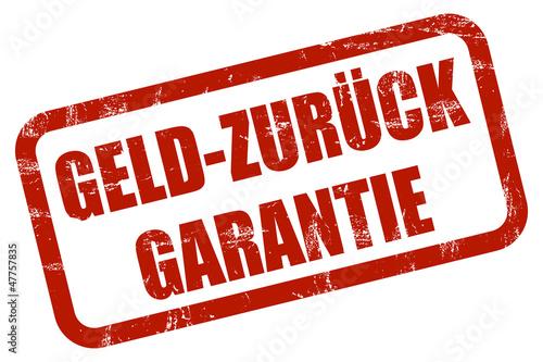 Grunge Stempel rot GELD-ZURÜCK GARANTIE