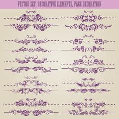 Vector set: floral decorative elements