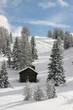 winterliche Hütte