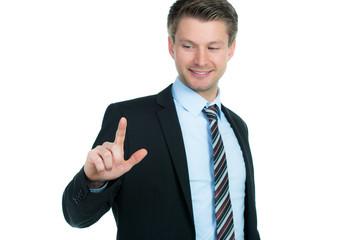 berater erklärt mit den fingern