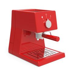 Red espresso machine