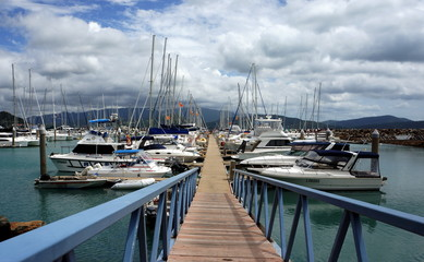 Abel Point Marina, Airlie Beach, Australia. Luxurious Yachts