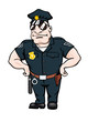 Cartoon smiling policeman