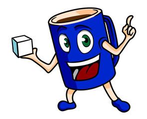 Cartoon tea cup