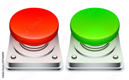 Big red and green buttons.