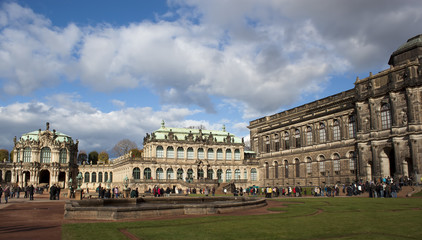The Zwinger Palace and Building of the Old Masters Picture Galle