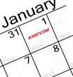 new years resolution is. . . EXERCISE!