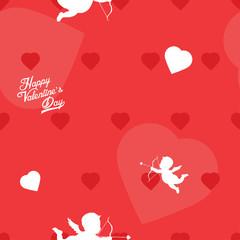Bright red Valentine's Day seamless background pattern