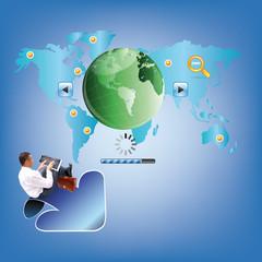 Programming design business website for network