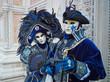 Leinwanddruck Bild - Person in Venetian costume attends Carnival of Venice.