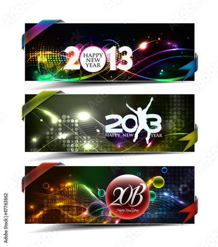 New year 2013 header. Vector illustration