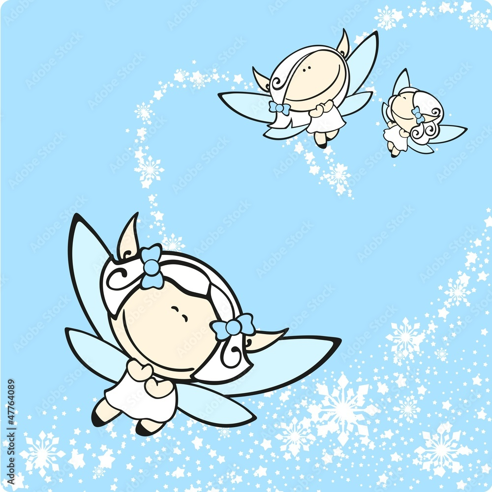 photo sur plexiglas snow fairies nikkel. Black Bedroom Furniture Sets. Home Design Ideas