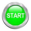 Bouton vert start avec contour métallique