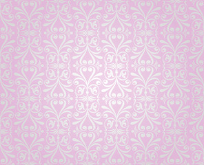 pink  & silver vintage wallpaper background design