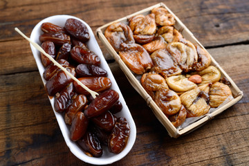 dates and dried figs