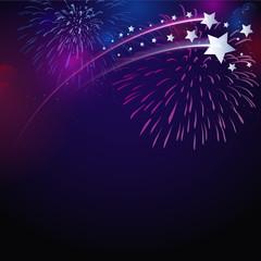 Feuerwerk mit Sternen
