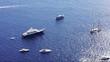 Yachts anchored in capri island, Italy.