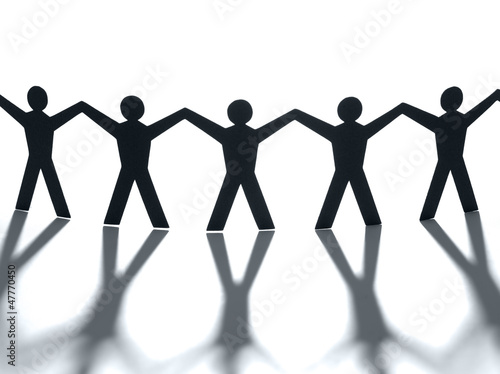 Group of people holding hands. Teamwork concept